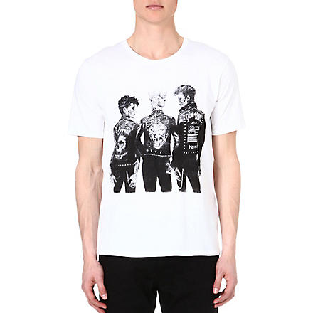 THE KOOPLES Punk-print t-shirt (White-black
