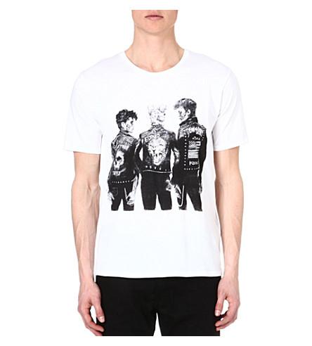 THE KOOPLES Punk-print t-shirt (White-black