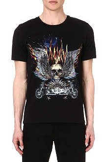 THE KOOPLES Eagle and Skull printed t-shirt