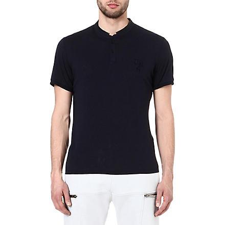THE KOOPLES SPORT Stand collar t-shirt (Dark navy / black