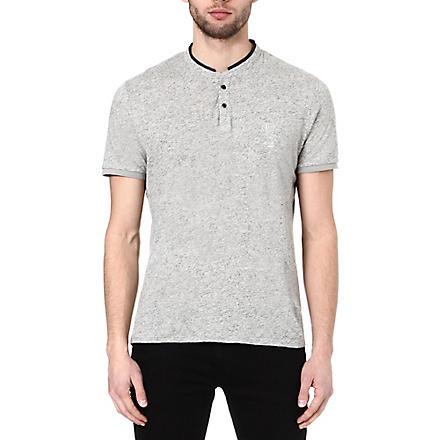 THE KOOPLES SPORT Stand collar t-shirt (Light grey mel / bla