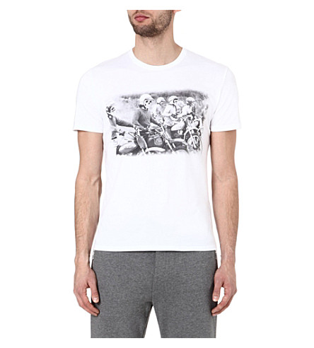 THE KOOPLES SPORT Motor riders t-shirt (White