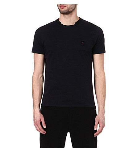 THE KOOPLES SPORT T-shirt with ribbed neckline (Dark navy / black