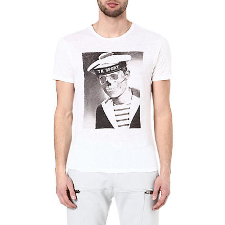 THE KOOPLES SPORT Skullhead sailor t-shirt (White