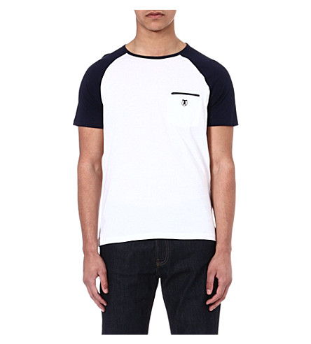 THE KOOPLES SPORT Baseball-style t-shirt (White-dark navy