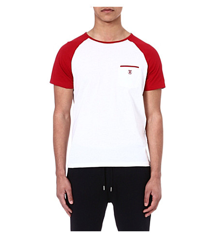 THE KOOPLES SPORT Baseball-style t-shirt (White / red
