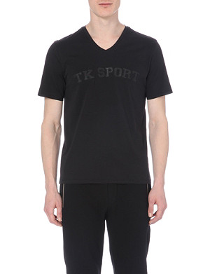 THE KOOPLES SPORT Flocked leather letter t-shirt