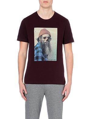 THE KOOPLES SPORT Skeleton lumberjack cotton-jersey t-shirt