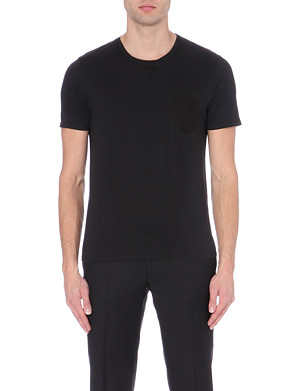THE KOOPLES Contrast-detail jersey t-shirt