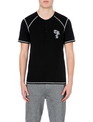 THE KOOPLES SPORT Logo-embroidered cotton-blend t-shirt