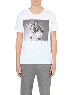 THE KOOPLES SPORT Skeleton hockey player cotton-jersey t-shirt