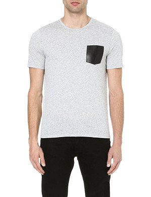 THE KOOPLES Leather-pocket t-shirt