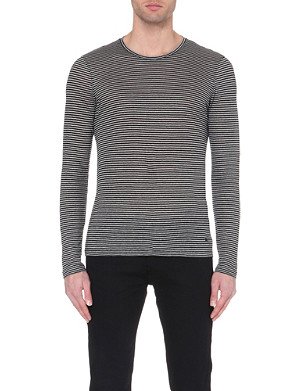 THE KOOPLES Striped linen t-shirt