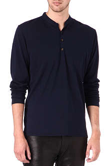 THE KOOPLES Coarse-grained henley shirt