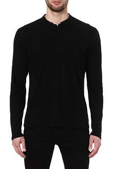 THE KOOPLES SPORT Stand collar long sleeve t-shirt