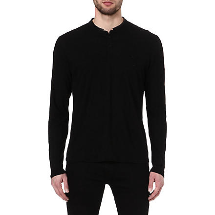 THE KOOPLES SPORT Stand collar long sleeve t-shirt (Black/black