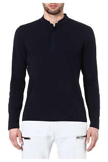 THE KOOPLES SPORT Long sleeve stand up collar t-shirt
