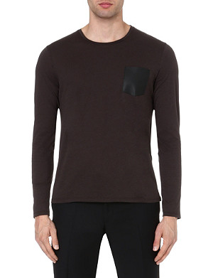 THE KOOPLES Leather patch pocket top