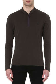 THE KOOPLES SPORT Long-sleeved embroidered chest top