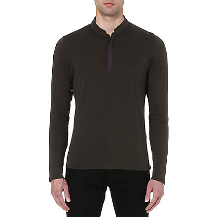 THE KOOPLES SPORT Long-sleeved embroidered chest top (Kaki