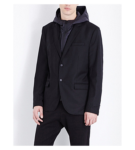 THE KOOPLES Fitted wool-blend jacket (Black