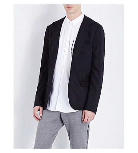 THE KOOPLES Fitted stretch-wool jacket (Black