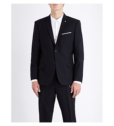 THE KOOPLES Slim-fit wool jacket (Black
