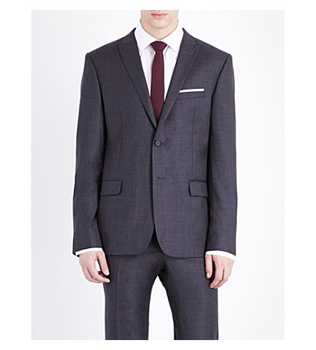 THE KOOPLES Classic-fit wool jacket (Grey