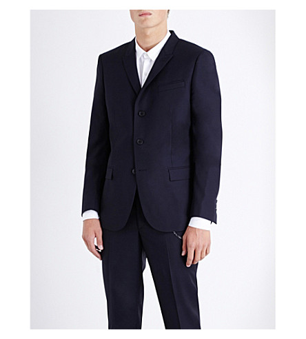 THE KOOPLES Slim-fit wool jacket (Navy