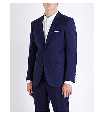 THE KOOPLES Classic-fit wool jacket (Blue