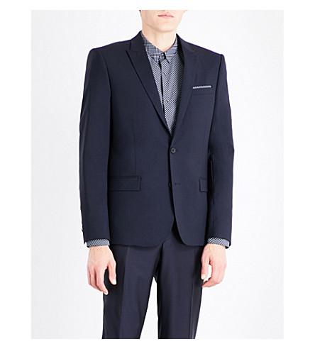 THE KOOPLES Single-breasted slim-fit wool jacket (Nav03