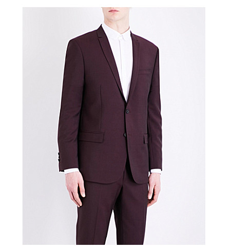 THE KOOPLES Slim-fit wool-blend blazer (Bur01