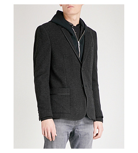 THE KOOPLES Textured wool-blend blazer (Gry03