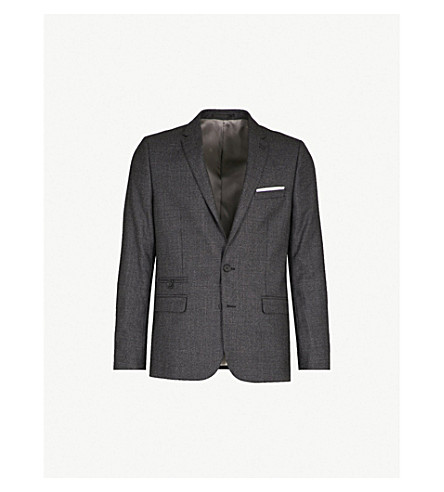THE KOOPLES Checked wool jacket (Bla02