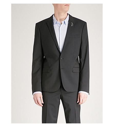 THE KOOPLES Slim-fit wool and mohair-blend jacket (Nav03