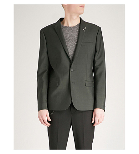 THE KOOPLES Slim-fit wool and mohair-blend jacket (Kak01