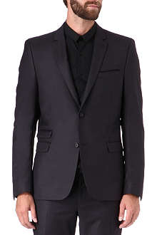 THE KOOPLES Fit-cut flannel suit jacket