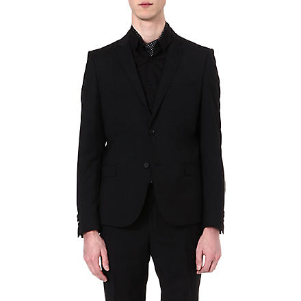THE KOOPLES Fitted single-breasted blazer (Black