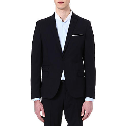 THE KOOPLES Microstriped suit jacket (Navy