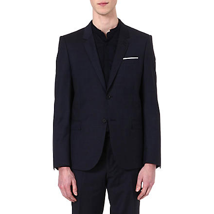 THE KOOPLES Adjusted pinpoint suit jacket (Navy
