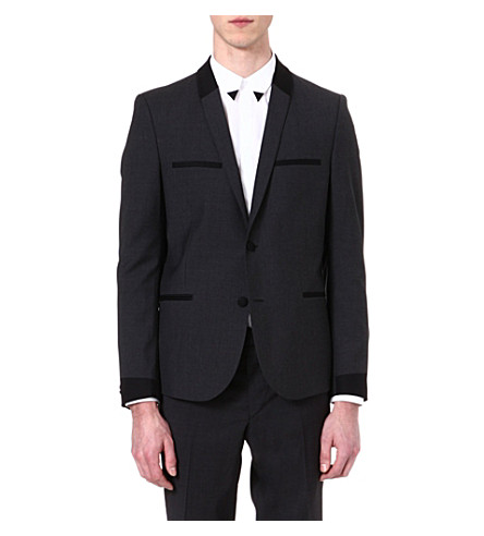 THE KOOPLES Contrast detail suit jacket (Grey