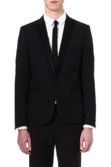 THE KOOPLES Satin-detail dinner jacket