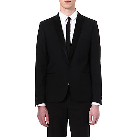 THE KOOPLES Satin-detail dinner jacket (Black
