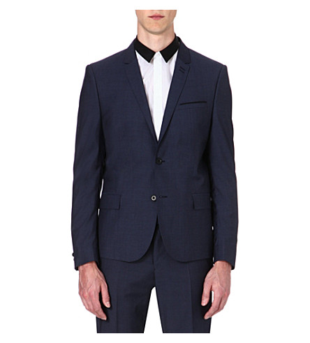 THE KOOPLES Slategrey wool suit jacket (Blue