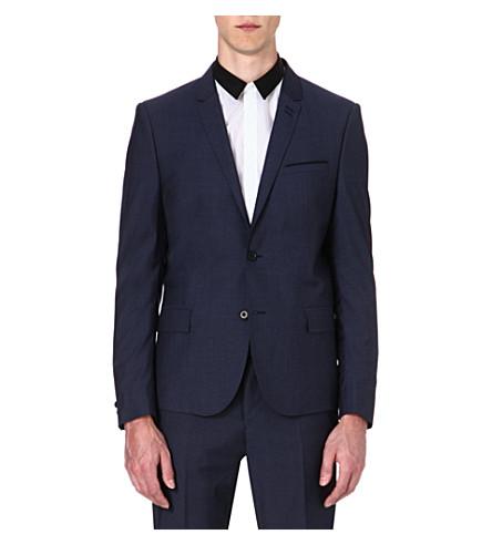 THE KOOPLES Slategrey wool suit jacket (Blue