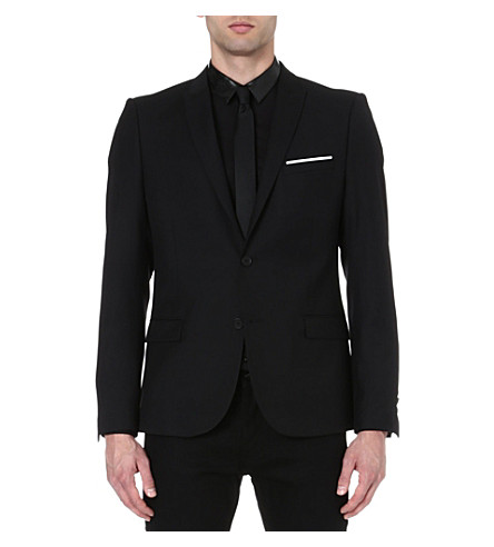 THE KOOPLES Regular-fit peak lapel jacket (Black