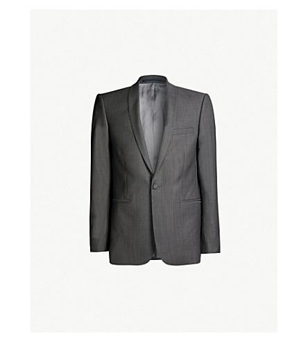THE KOOPLES Birdseye-pattern slim-fit wool blazer (Gry01