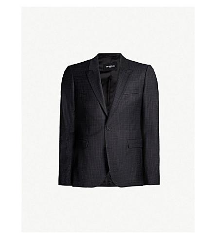 THE KOOPLES Checked slim-fit wool blazer (Bla01