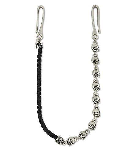 THE KOOPLES Skull-motif silver-toned pocket chain (Bla01