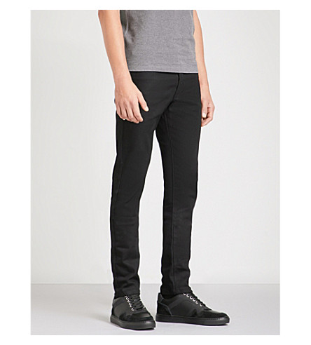 THE KOOPLES Fitted tapered faded-wash jeans (Bla04